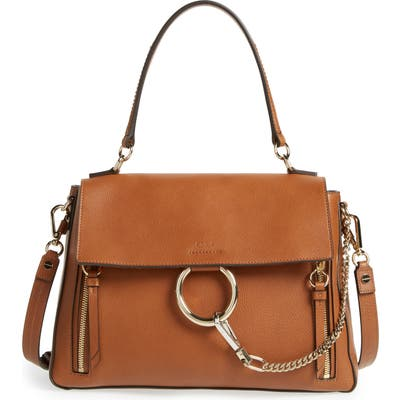 Chloe Medium Faye Leather Shoulder Bag - Brown