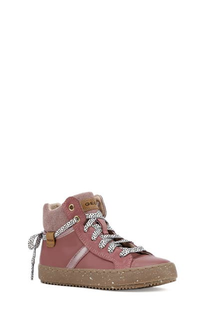 Recuperar sin ganador  Geox Kids' X Wwf Kalispera High Top Sneaker In Dark Rose | ModeSens