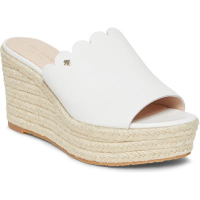 Kate Spade New York Tabby Espadrille Wedge Mule, White