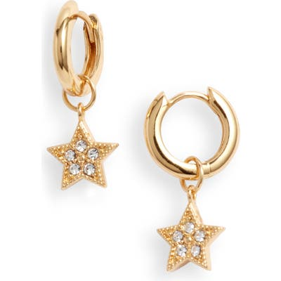 Olivia Burton Celestial Star Charm Huggie Hoop Earrings