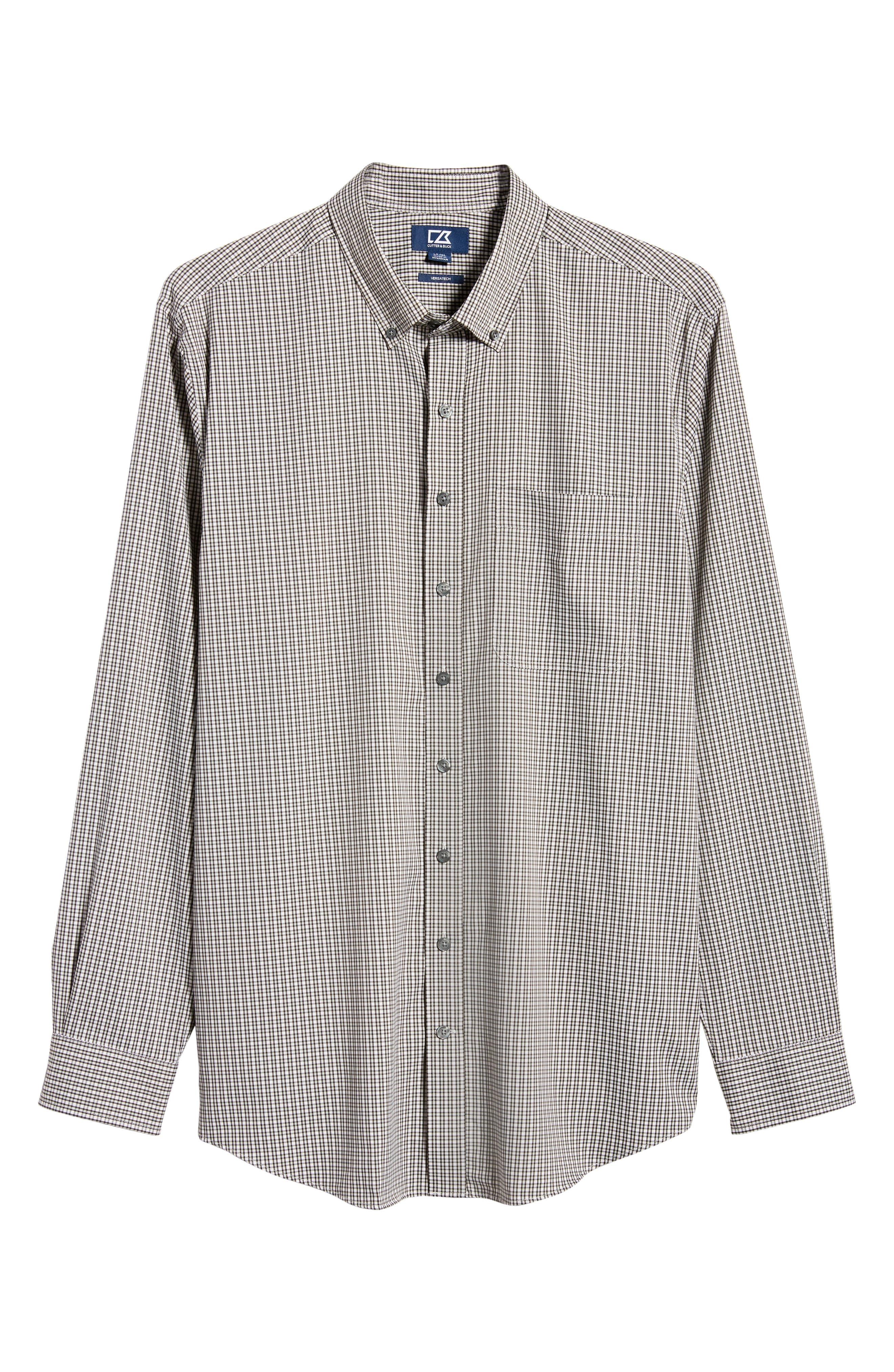 Men's Big & Tall Cutter & Buck Versatech Multi Check Classic Fit Button-Up Performance Shirt