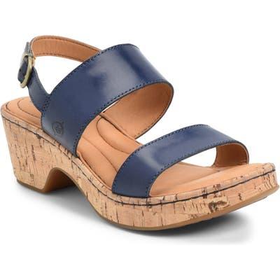 B?rn Atzel Block Heel Sandal, Blue