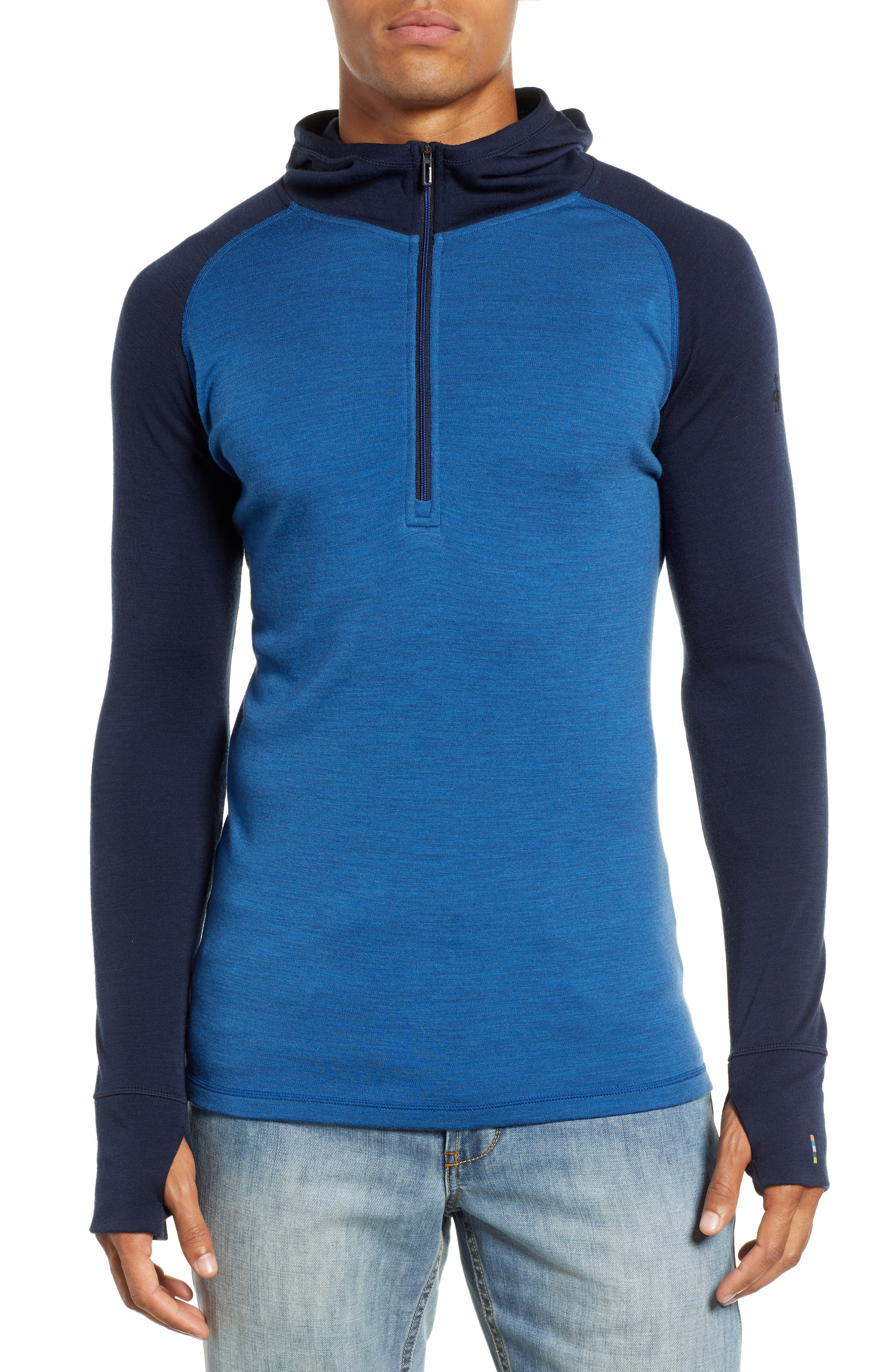 Smartwool Merino 250 Base Layer Hooded Pullover, Blue