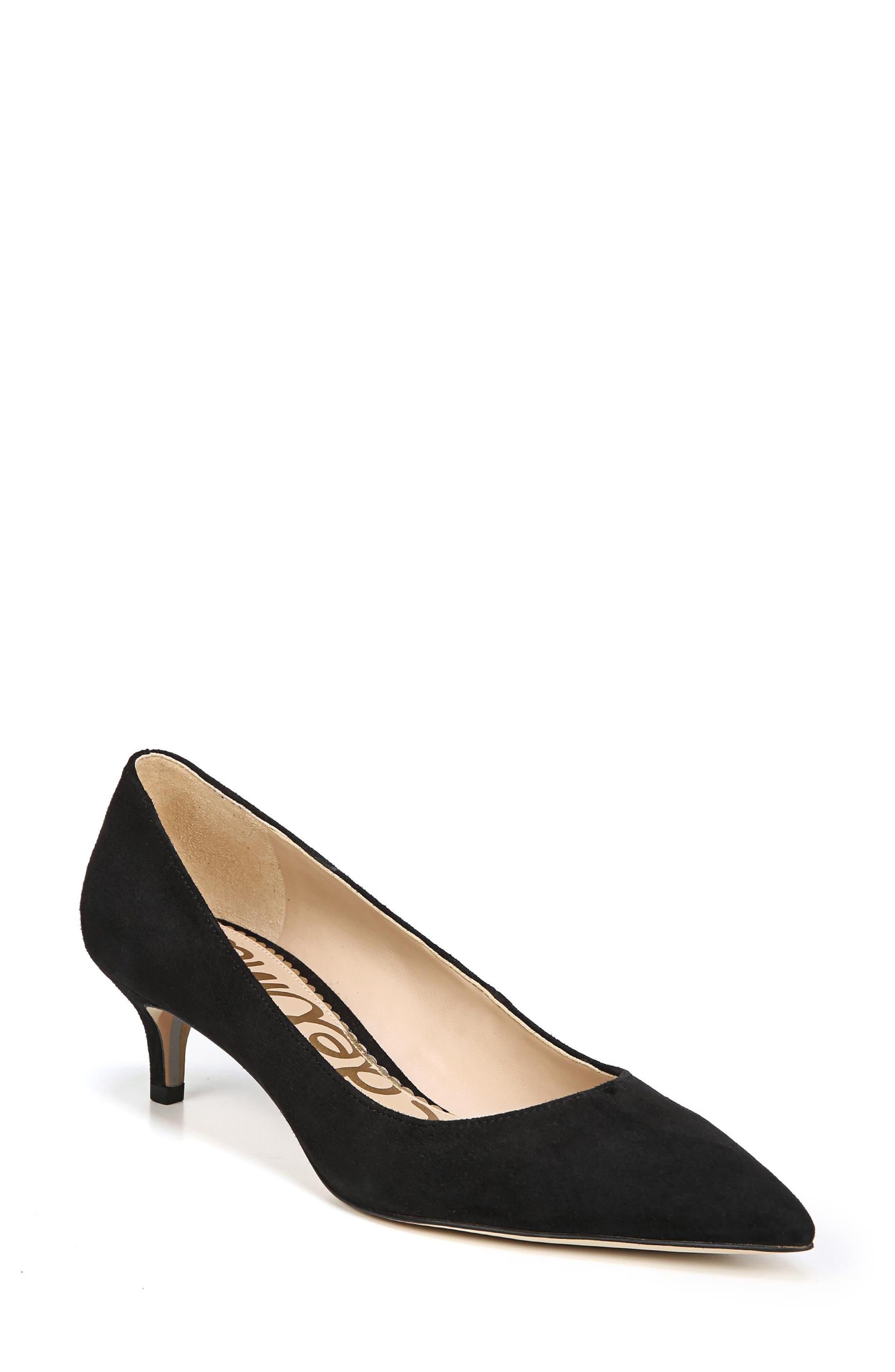 1950s Style Shoes | Heels, Flats, Saddle Shoes Womens Sam Edelman Dori Pump Size 11 M - Black $119.95 AT vintagedancer.com