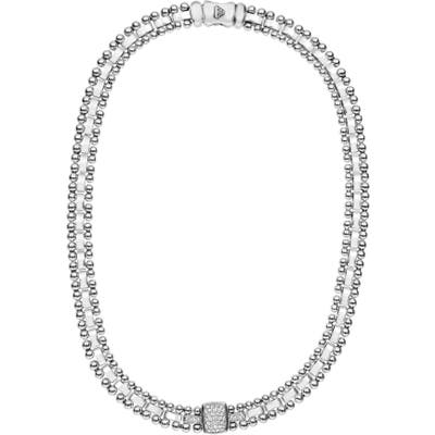 Lagos Caviar Spark Diamond Collar Necklace