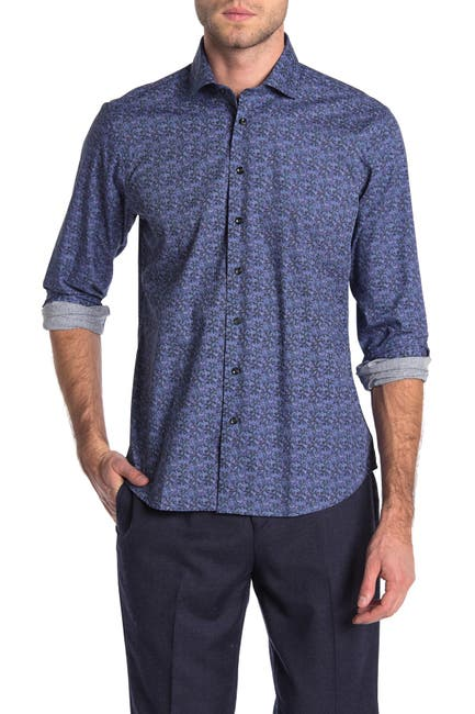Image of Toscano Printed Dot Regular Fit Shirt
