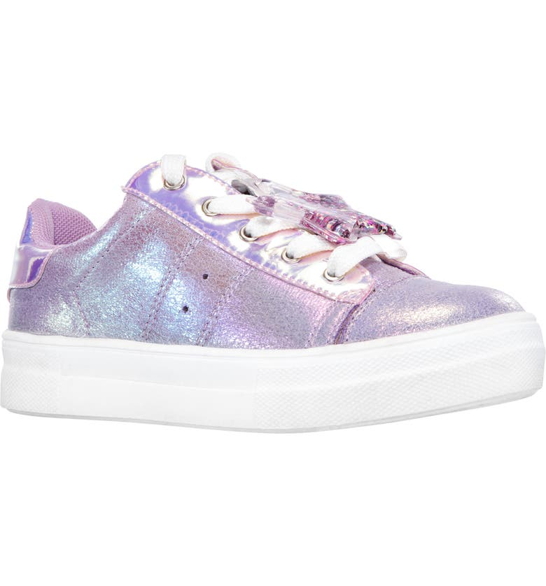 NINA Karima Metallic Sneaker, Main, color, PURPLE CRACKLE IRIDESCENT