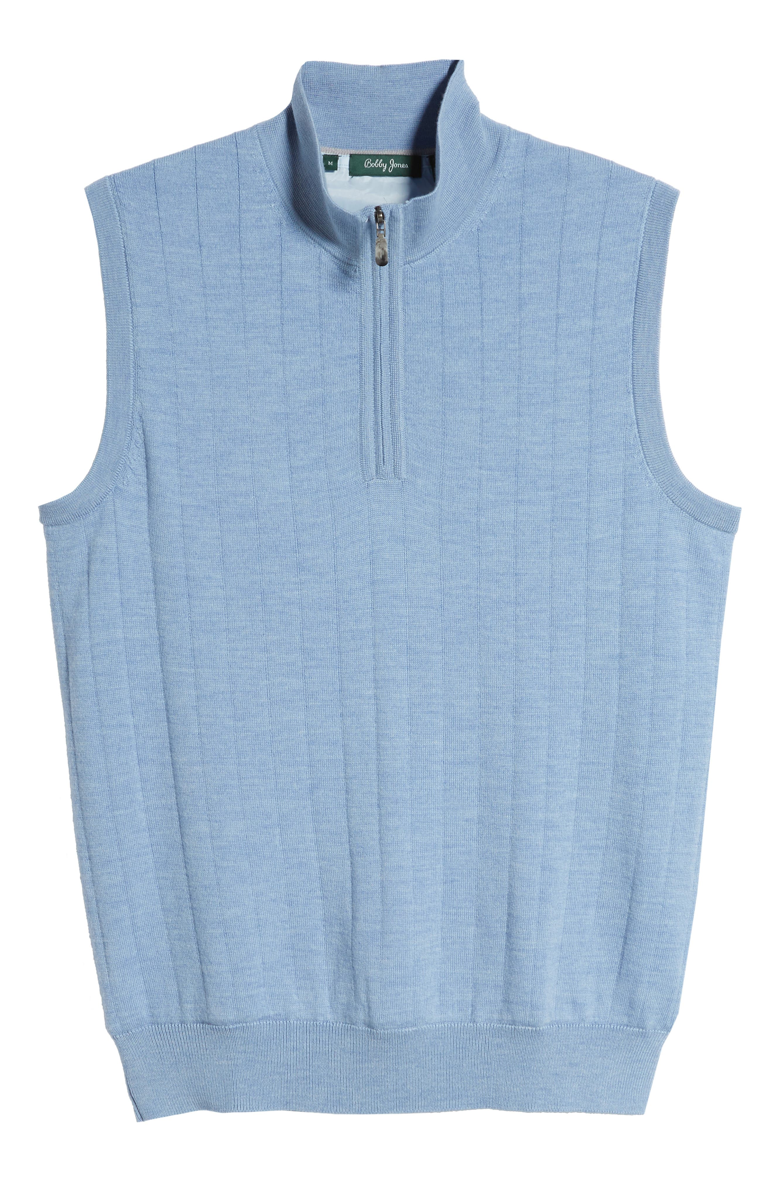,                             Quarter Zip Wool Sweater Vest,                             Alternate thumbnail 6, color,                             LIGHT BLUE