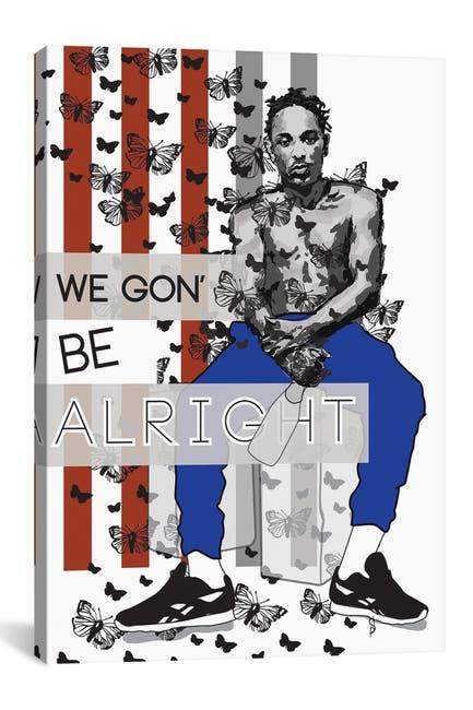 Image of iCanvas Alright - Kendrick by GNODpop