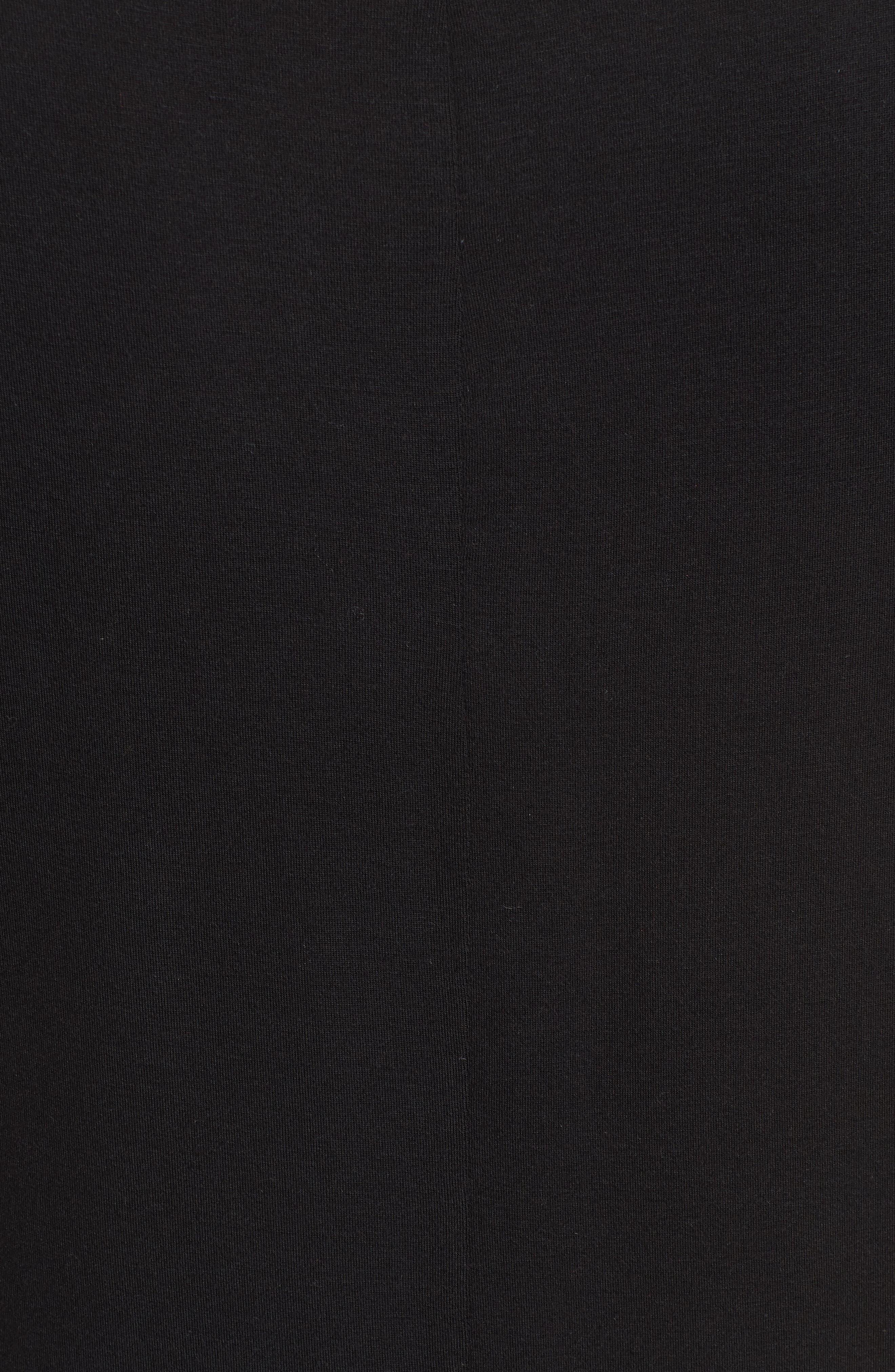 ,                             Short Sleeve Shirttail Tee,                             Alternate thumbnail 5, color,                             BLACK