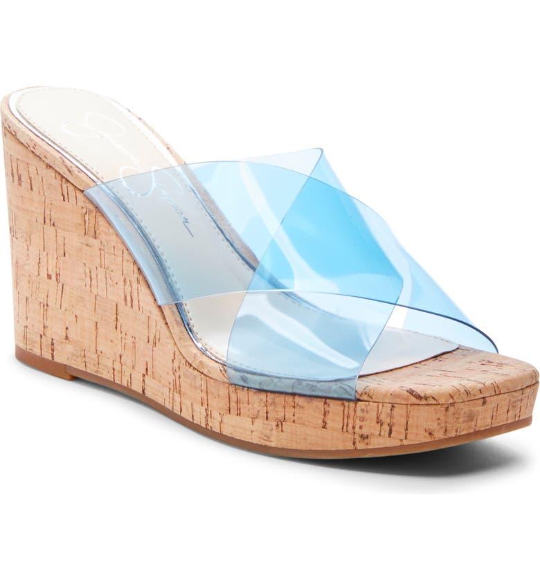 JESSICA SIMPSON Seena Platform Wedge Sandal, Main, color, OCEANA BLUE