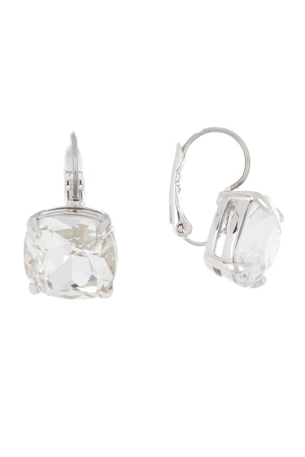 Image of kate spade new york square cz drop earrings