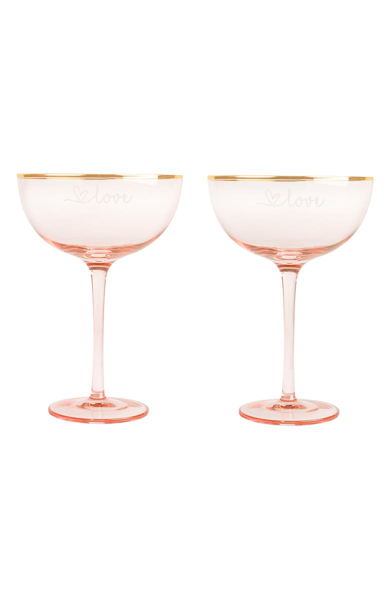 CATHY'S CONCEPTS Love Set of 2 Champagne Coupes, Main, color, 220