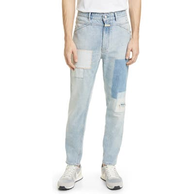 Closed X-Pert Patchwork Regular Fit Jeans, Blue