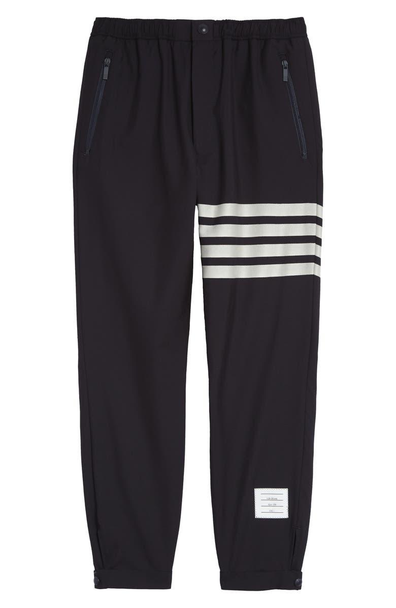 THOM BROWNE 4-Bar Wool Track Pants, Main, color, NAVY