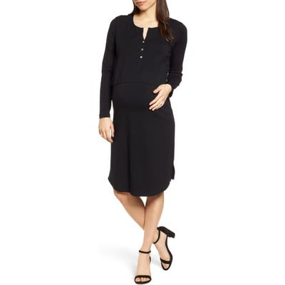 Isabella Oliver The Signature Nursing/maternity Dress, Black