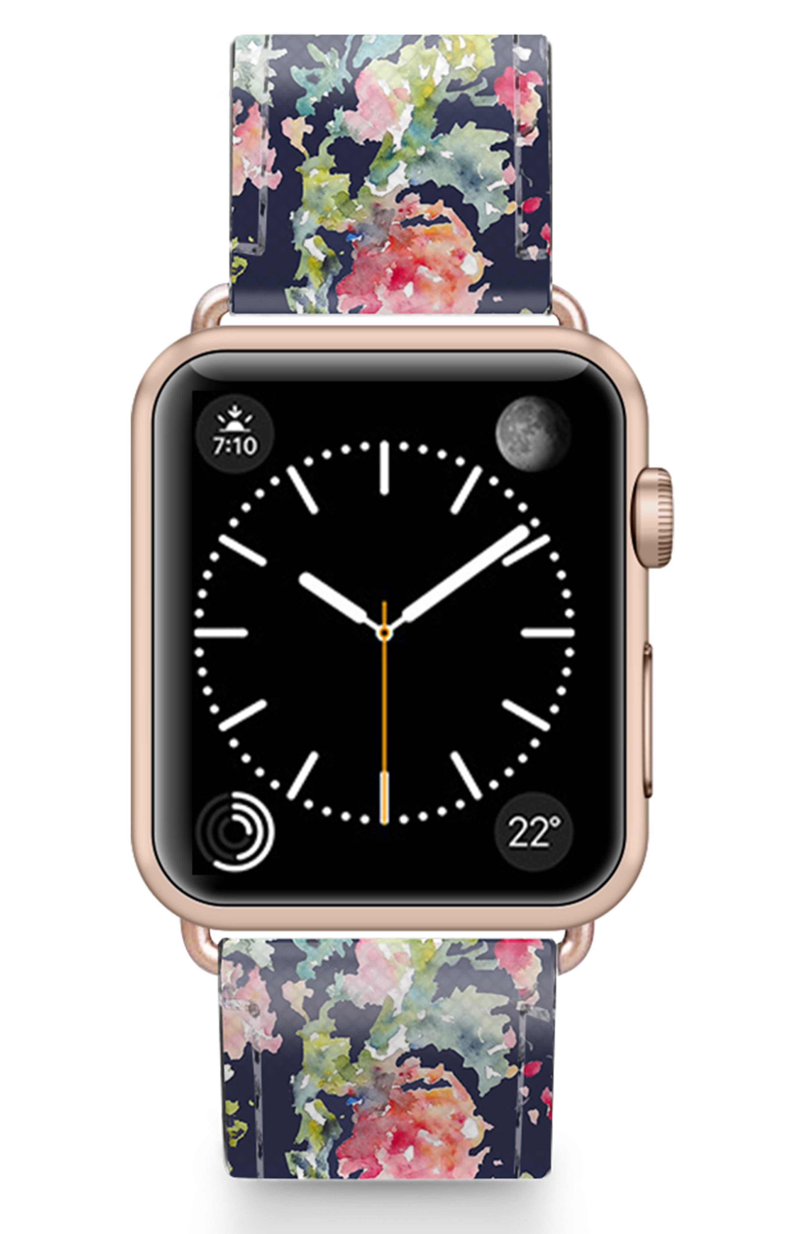 Keepsake Saffiano Faux Leather Apple Watch Strap
