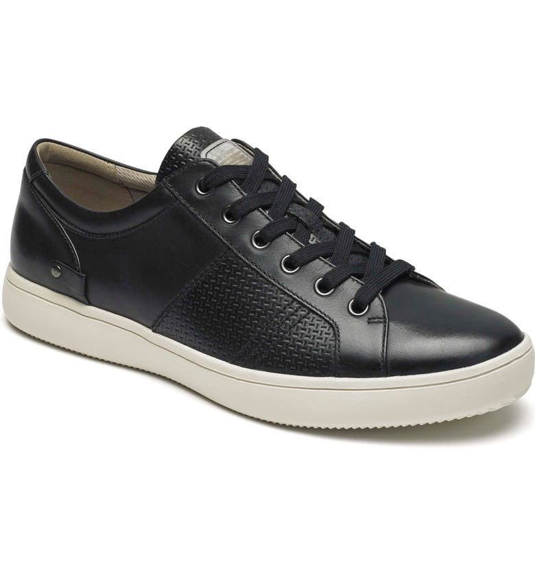 ROCKPORT City Lites Collection Lace-Up Sneaker, Main, color, BLACK LEATHER