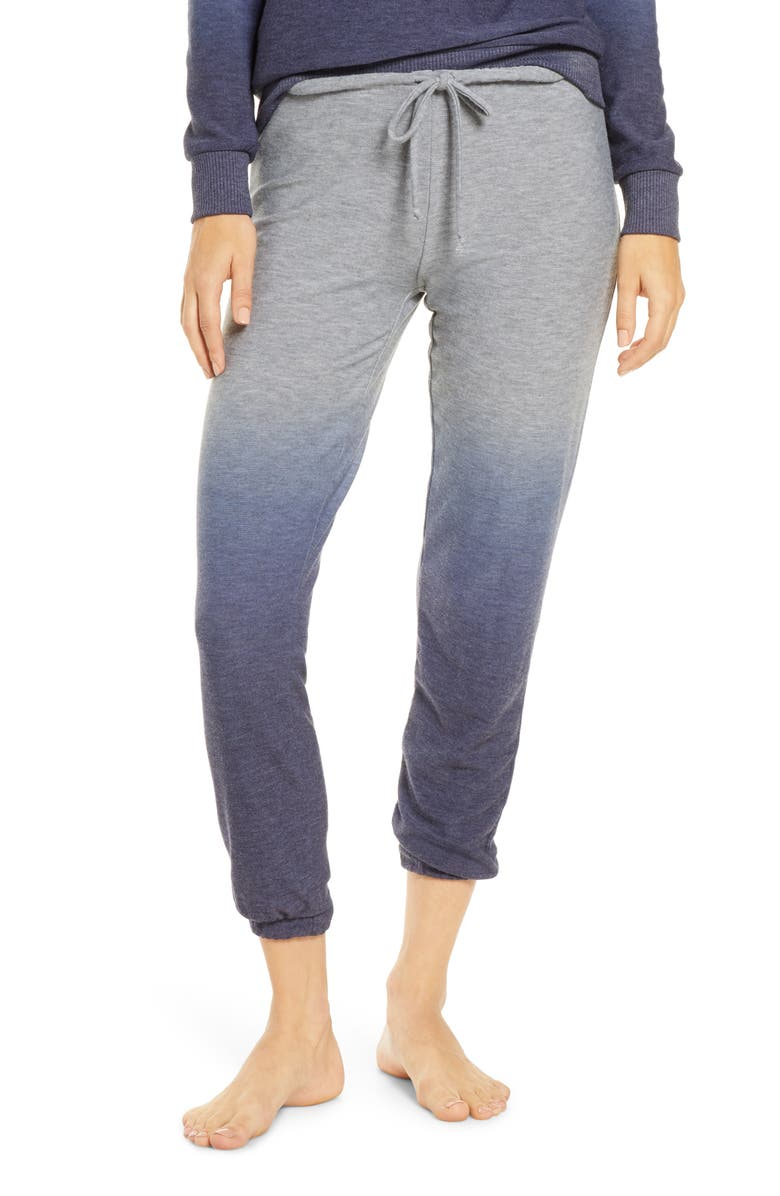 CHASER Ombré Cozy Jogger Pants, Main, color, NAVY OMBRE