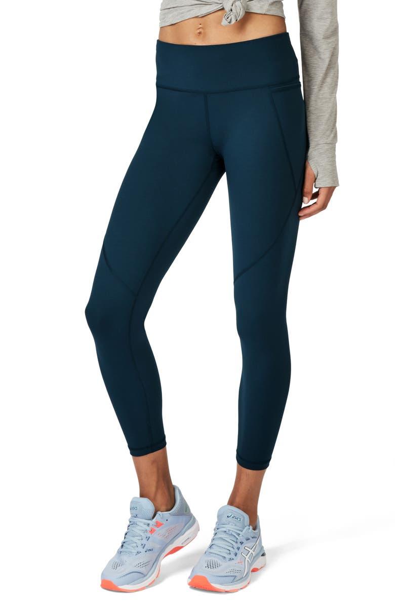 SWEATY BETTY Power 7/8 Workout Leggings, Main, color, BEETLE BLUE