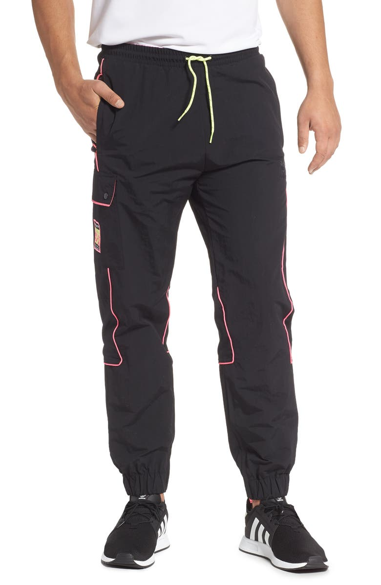 ADIDAS ORIGINALS Adiplore Pack Nylon Track Pants, Main, color, BLACK