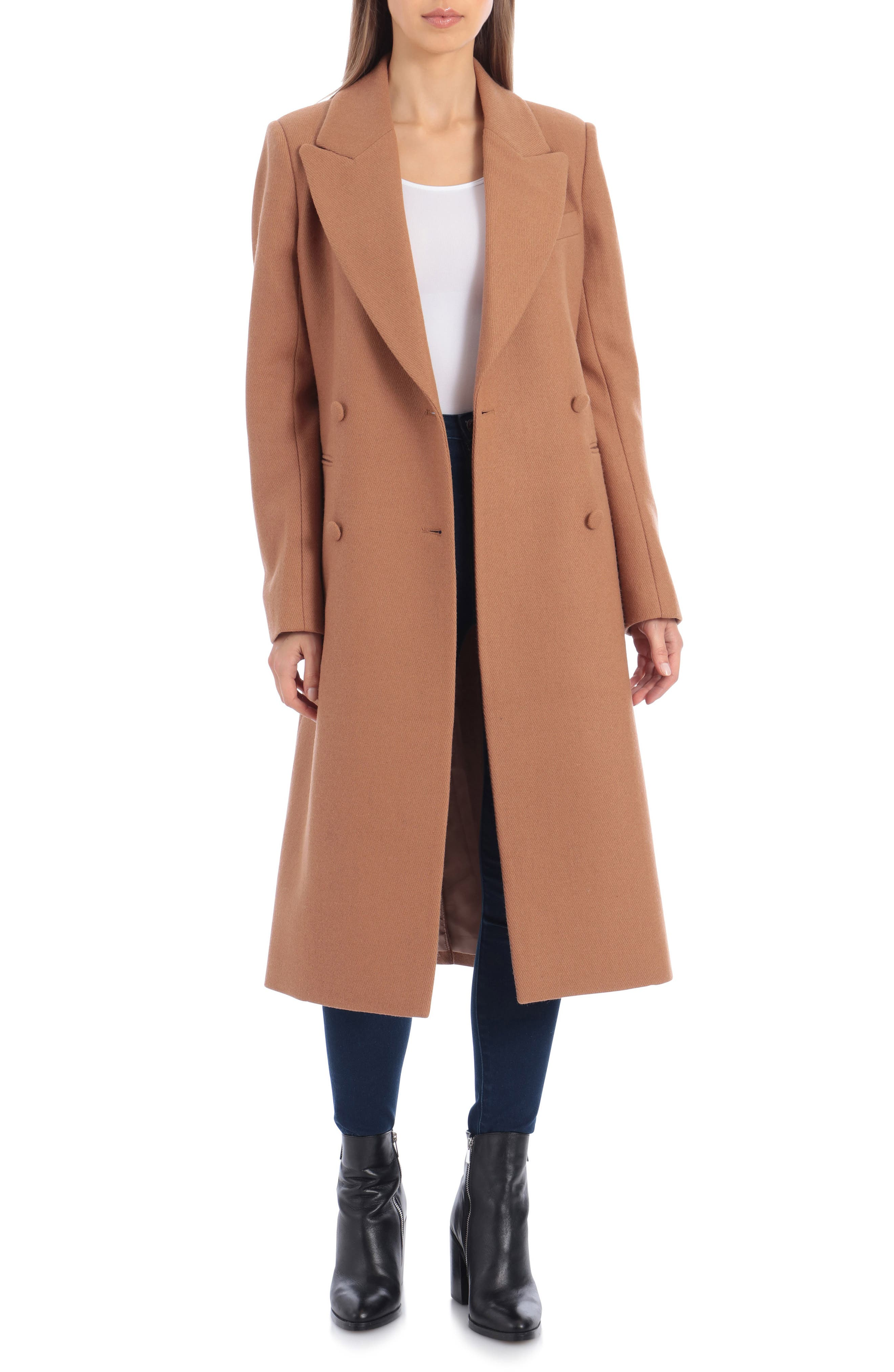 1940s Coats & Jackets Fashion History Womens Avec Les Filles Double Breasted Wool Blend Coat $199.90 AT vintagedancer.com