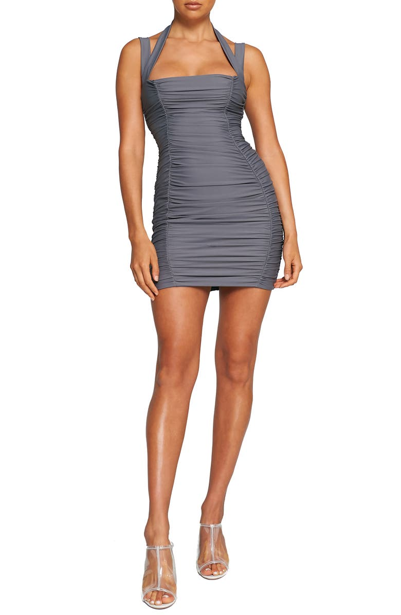 TIGER MIST Tilly Body-Con Minidress, Main, color, STEELE