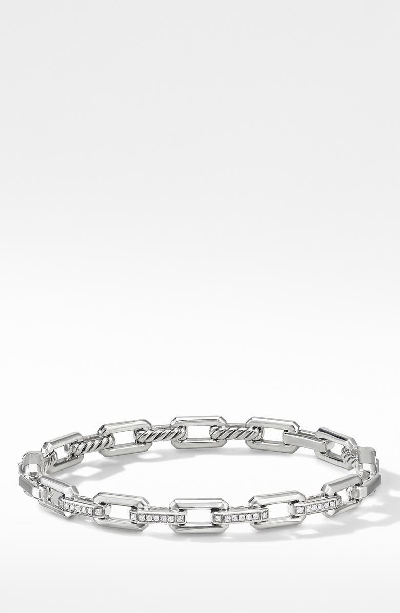 DAVID YURMAN Stax Link Bracelet with Diamonds, Main, color, SILVER/ DIAMOND