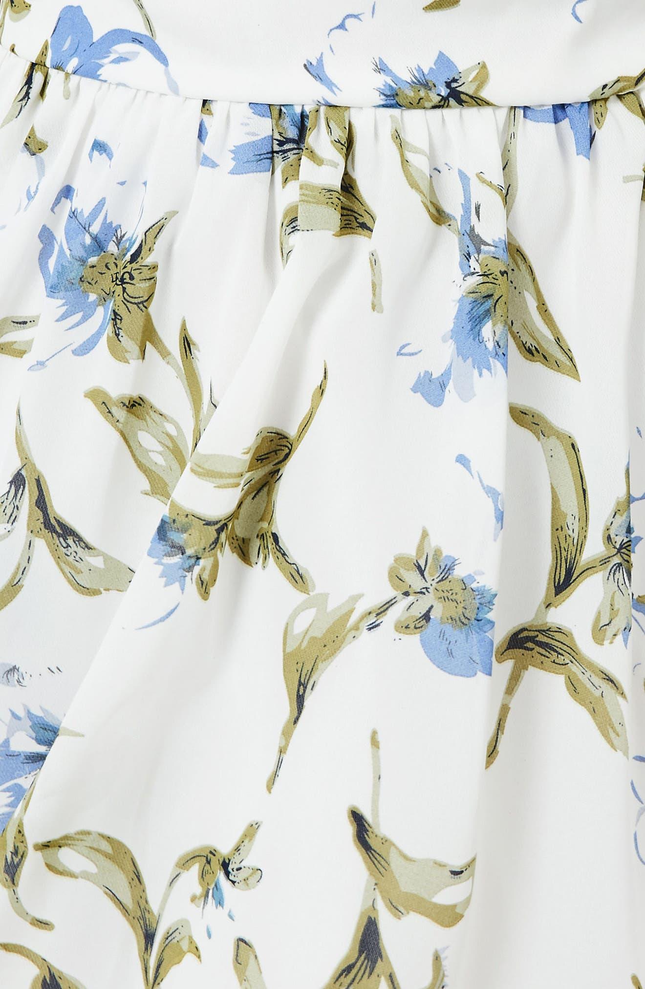 ,                             Floral Off the Shoulder Minidress,                             Alternate thumbnail 3, color,                             100