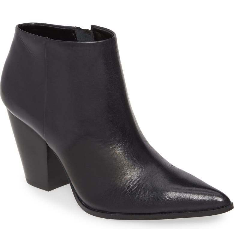 CALVIN KLEIN Ignazia Siriana Bootie, Main, color, BLACK FAUX LEATHER
