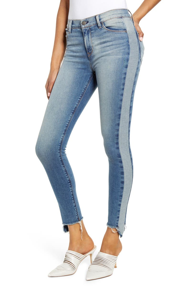 HUDSON JEANS Barbara Side Stripe High Waist Ankle Skinny Jeans, Main, color, HEADLINER