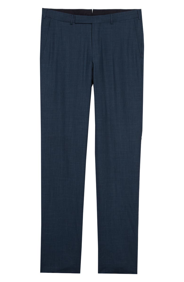 ERMENEGILDO ZEGNA Trofeo Classic Fit Flat Front Tropical Wool Blend Dress Pants, Main, color, 440