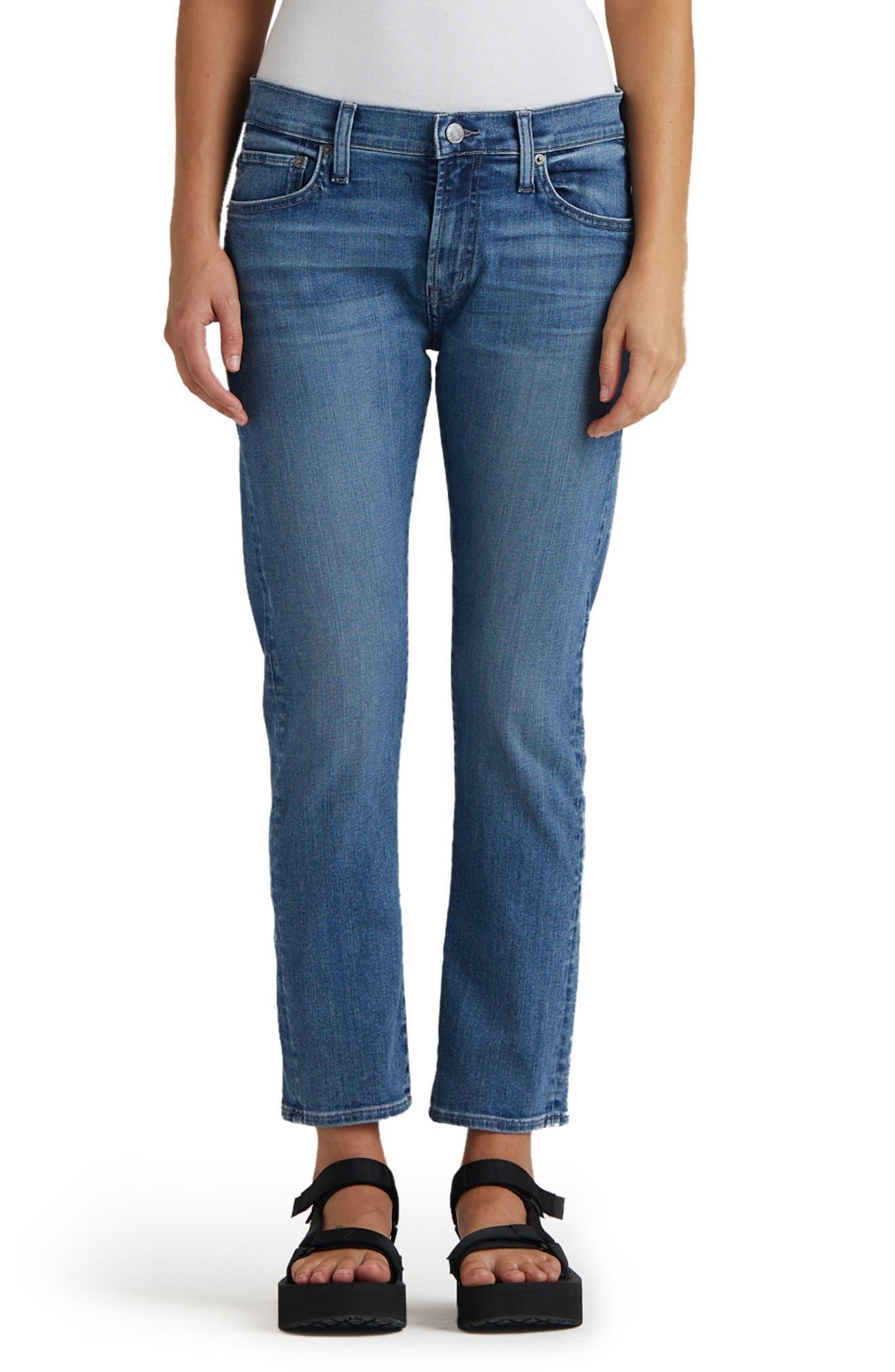 Jamie Straight Leg Ankle Jeans