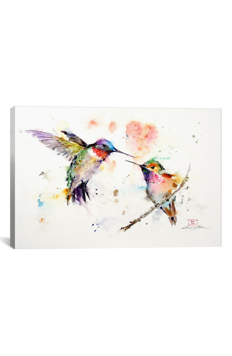 ICANVAS Hummingbirds by Dean Crouser Giclée Print Canvas Art, Main, color, WHITE