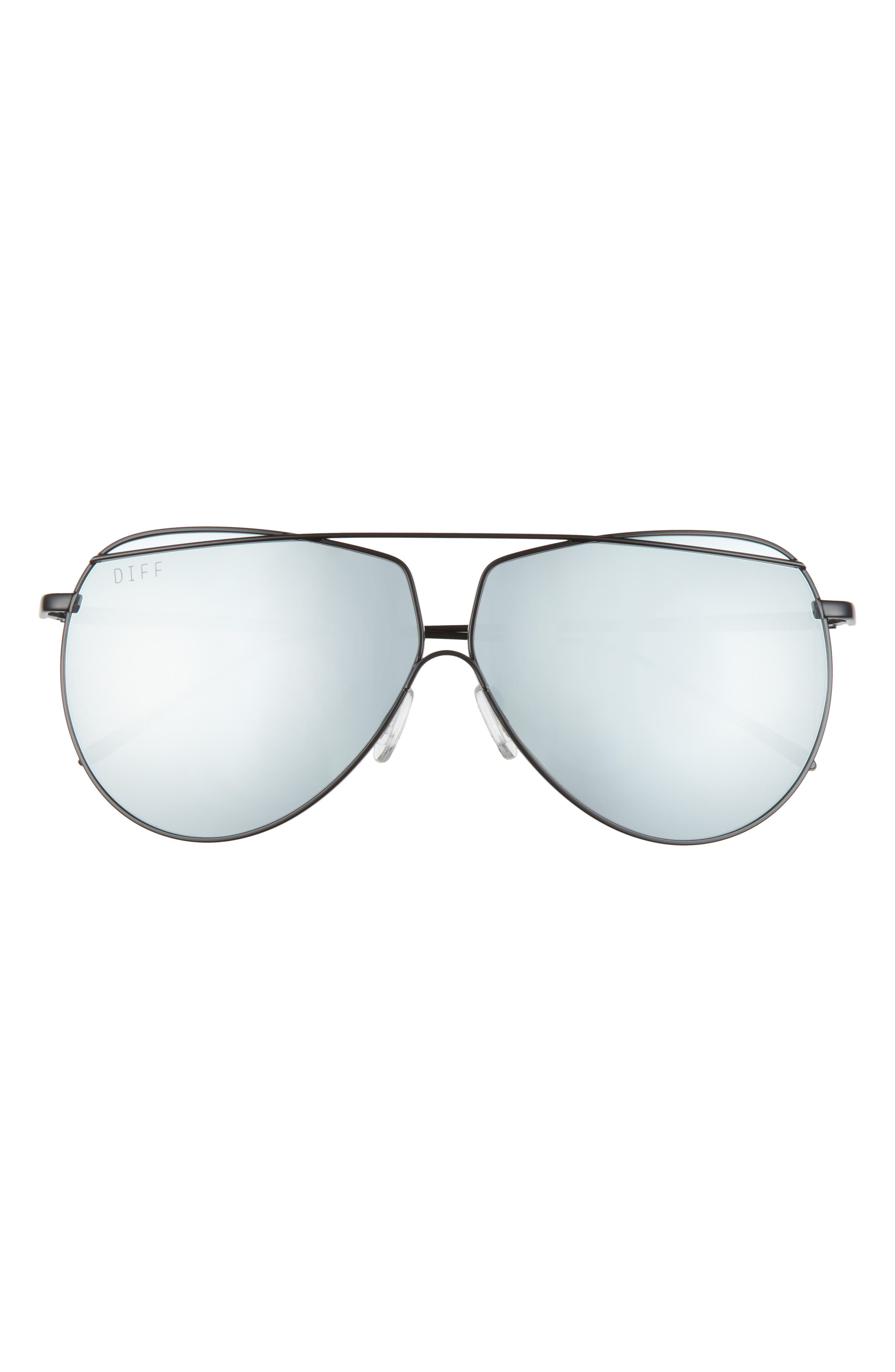 Maeve 65mm Mirrored Polarized Oversize Aviator Sunglasses