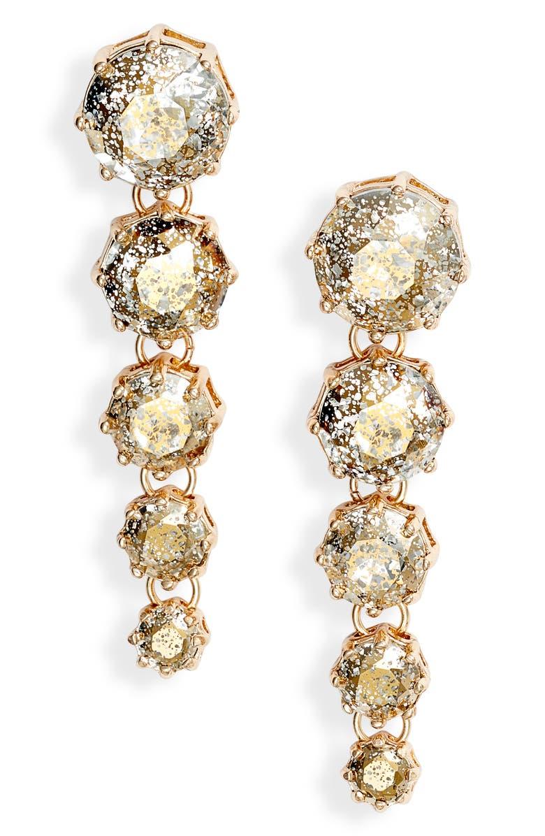 RACHEL PARCELL Cascading Linear Earrings, Main, color, SILVER- GOLD