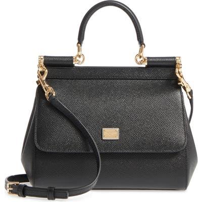 Dolce & gabbana Small Miss Sicily Leather Satchel - Black