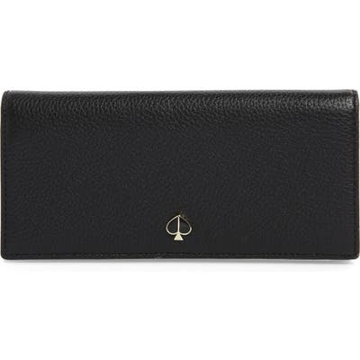 Kate Spade New York Polly Leather Bifold Wallet - Black