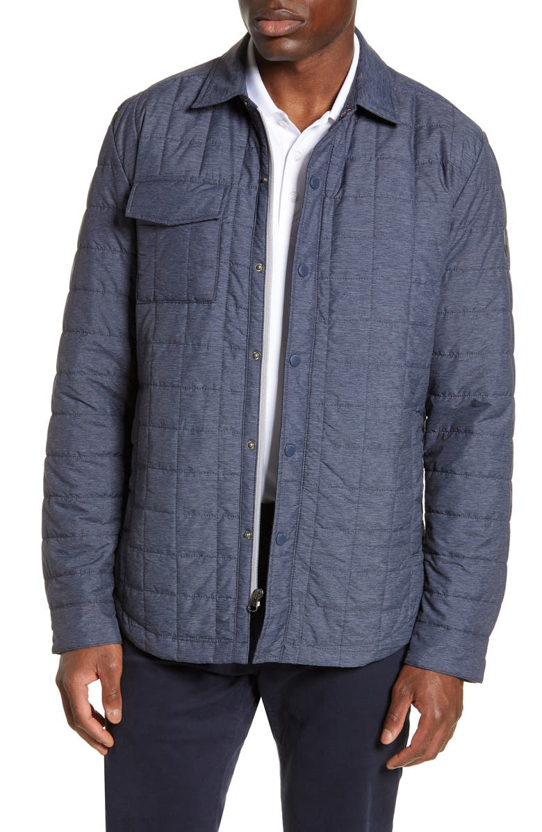 CUTTER & BUCK Rainier PrimaLoft<sup>®</sup> Insulated Shirt Jacket, Main, color, ANTHRACITE MELANGE