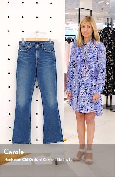 Georgia High Waist Split Hem Bootcut Jeans, sales video thumbnail