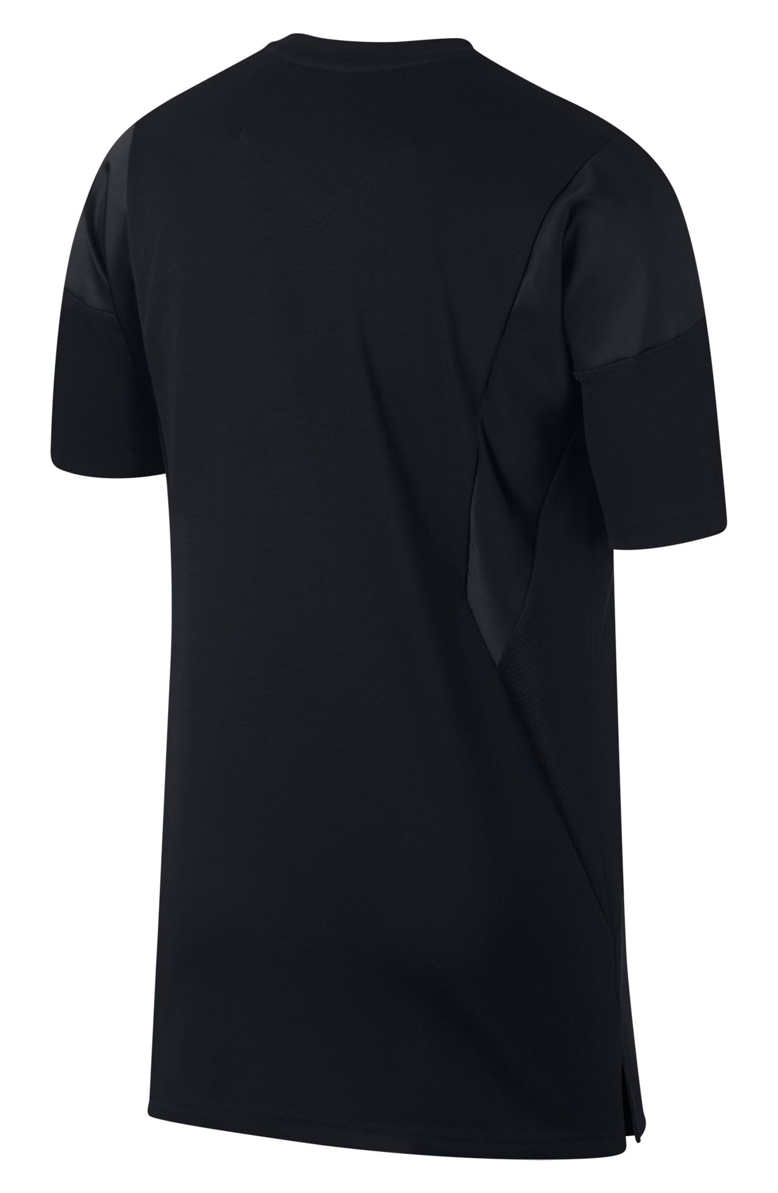 ,                             Flight T-Shirt,                             Alternate thumbnail 2, color,                             BLACK/ BLACK/ BLACK