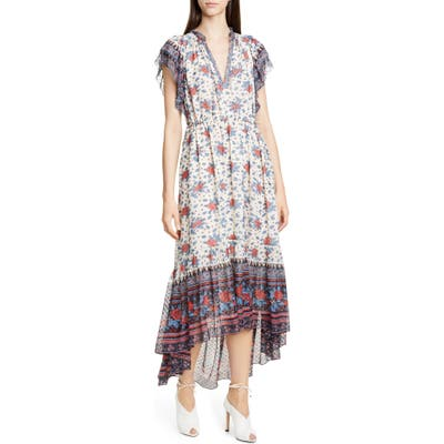 Ulla Johnson Reese Silk Blend Jacquard High/low Dress, White