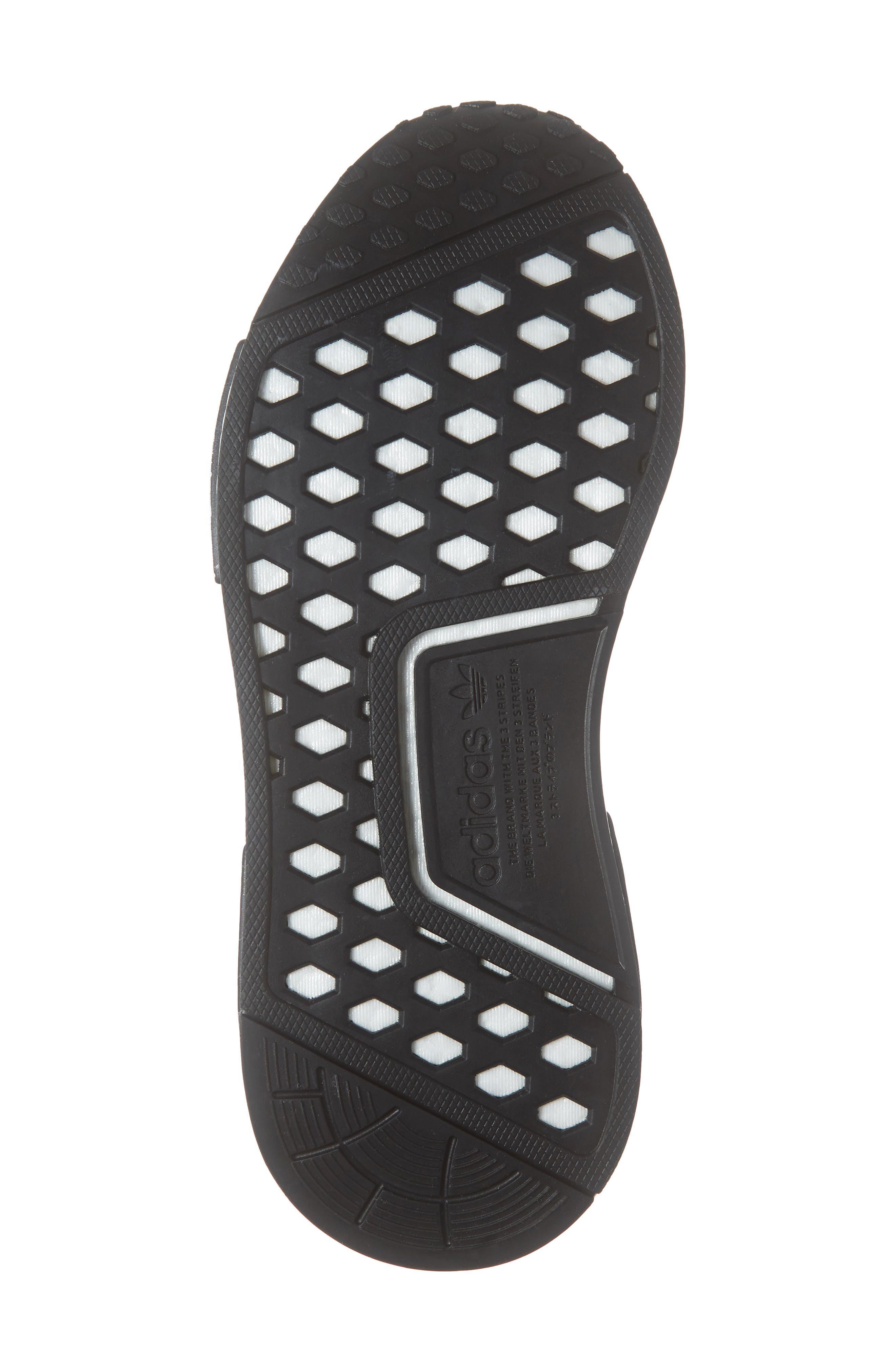 ,                             NMD R1 Athletic Shoe,                             Alternate thumbnail 7, color,                             CORE BLACK/ SHOCK PINK