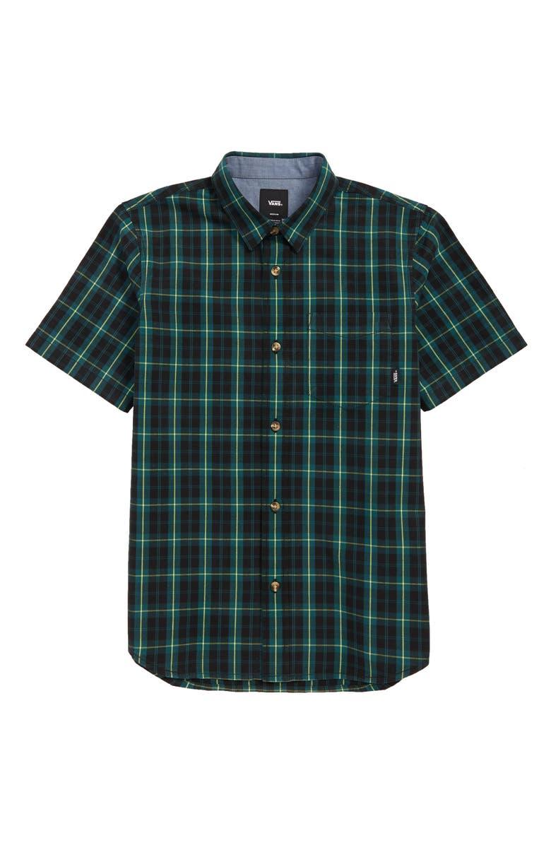 VANS Rockwood Plaid Woven Shirt, Main, color, 310
