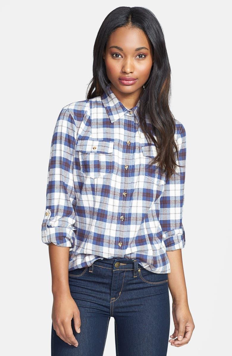 SANDRA Ingrish Brushed Twill Plaid Shirt, Main, color, 400