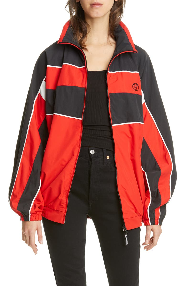 VETEMENTS Track Jacket, Main, color, RED