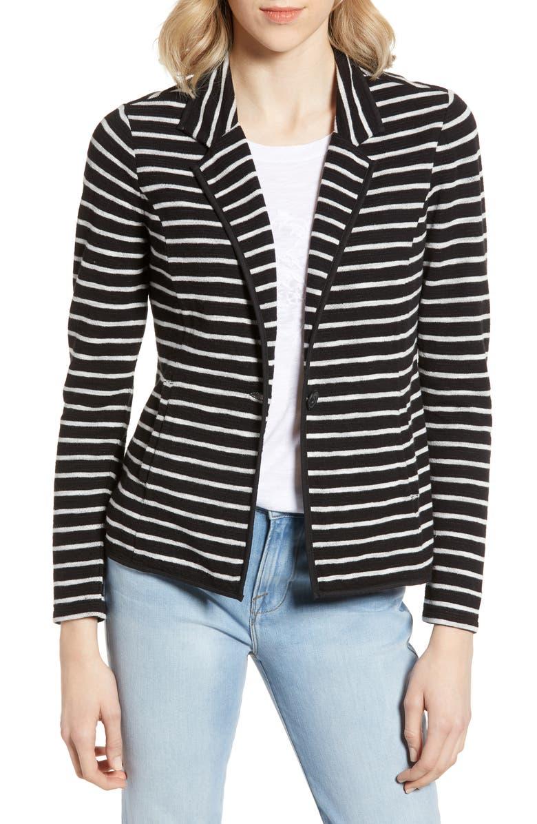 CASLON<SUP>®</SUP> One-Button Knit Blazer, Main, color, 003