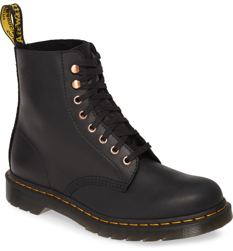 DR. MARTENS Pascal Plain Toe Boot, Main, color, BLACK