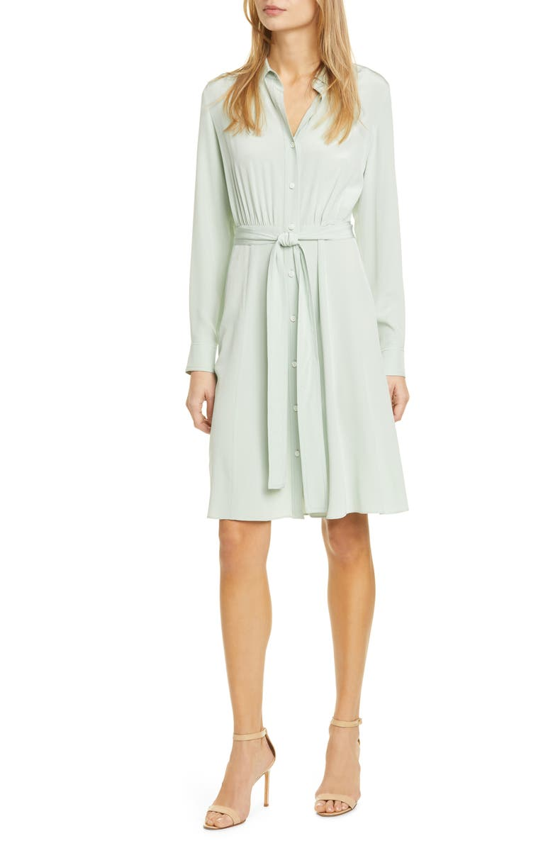DVF Dory Long Sleeve Silk Shirtdress, Main, color, 333