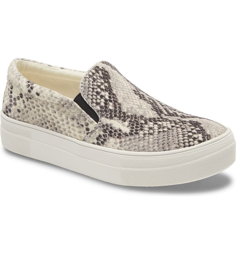 STEVE MADDEN Gills Platform Slip-On Sneaker, Main, color, SNAKE CANVAS